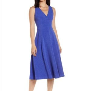 VINCE CAMUTO Button Back Fit & Flare Dress